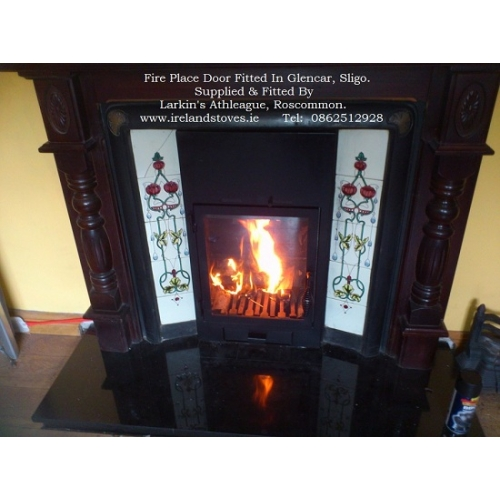 The Real Fyre Majestic Fireplace Glass Doors Gek36 Open Shelving